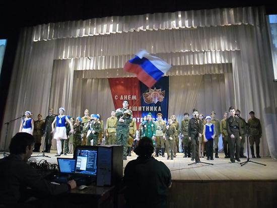 Празднование Дня защитника Отечества в ст. Егорлыкской